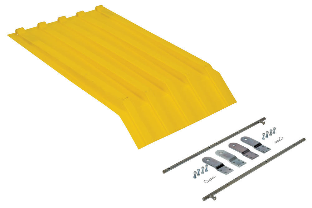 Yellow Poly Lid Size 0.25 Style H Hopper - 1