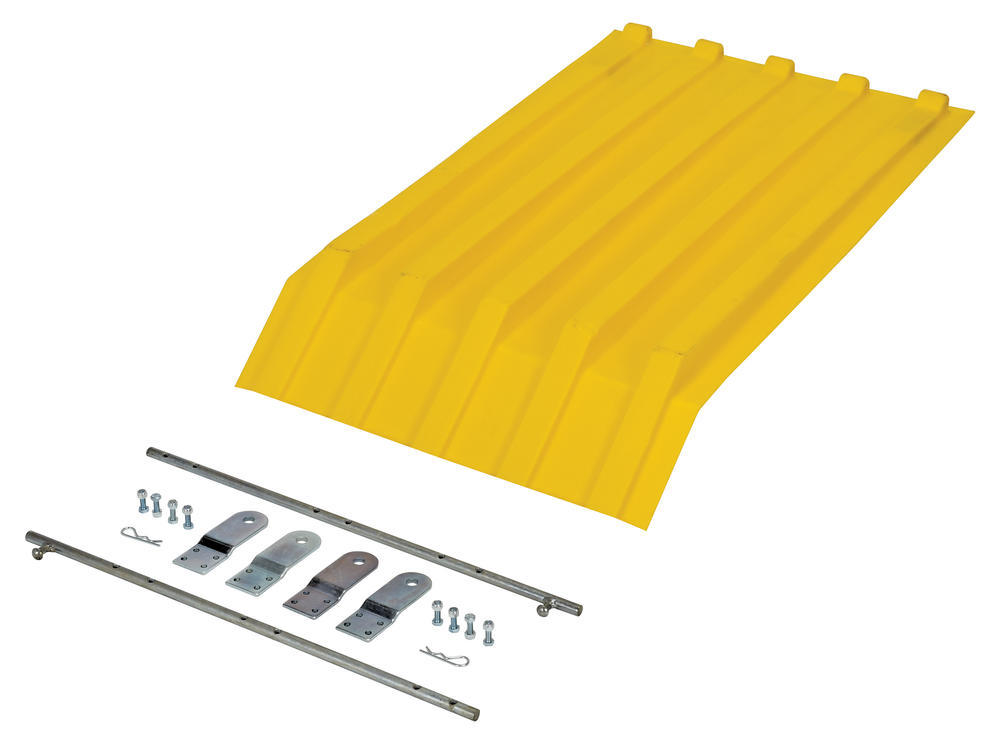 Yellow Poly Lid Size 0.25 Style H Hopper - 2