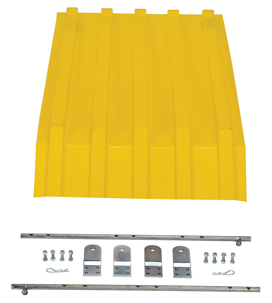 Yellow Poly Lid Size 0.25 Style H Hopper