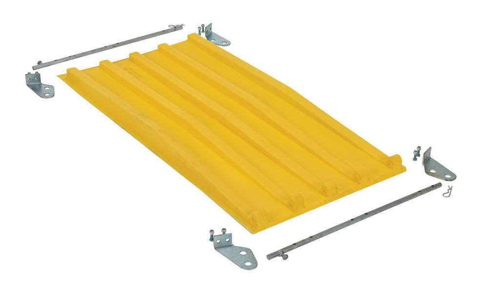 Yellow Poly Lid Size 0.33 Style D Hopper - 1