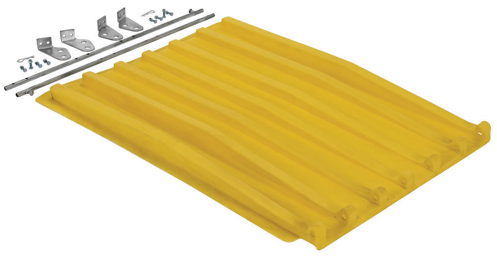 Yellow Poly Lid Size 0.5 Style D Hopper - 1