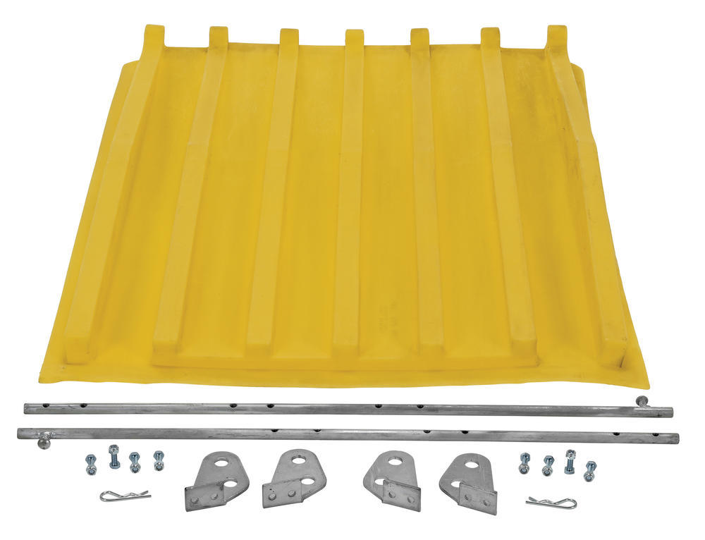 Yellow Poly Lid Size 0.5 Style D Hopper - 3