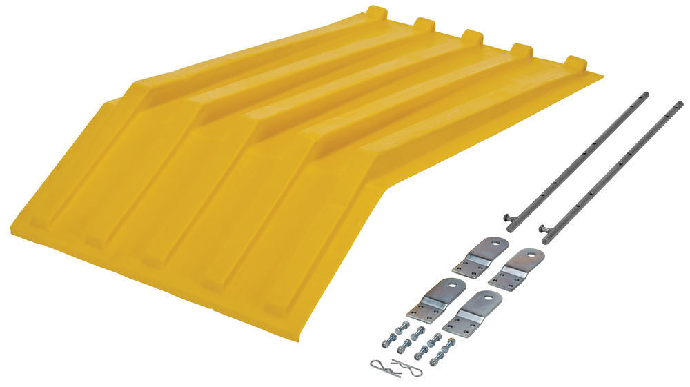 Yellow Poly Lid Size 0.5 Style H Hopper - 2