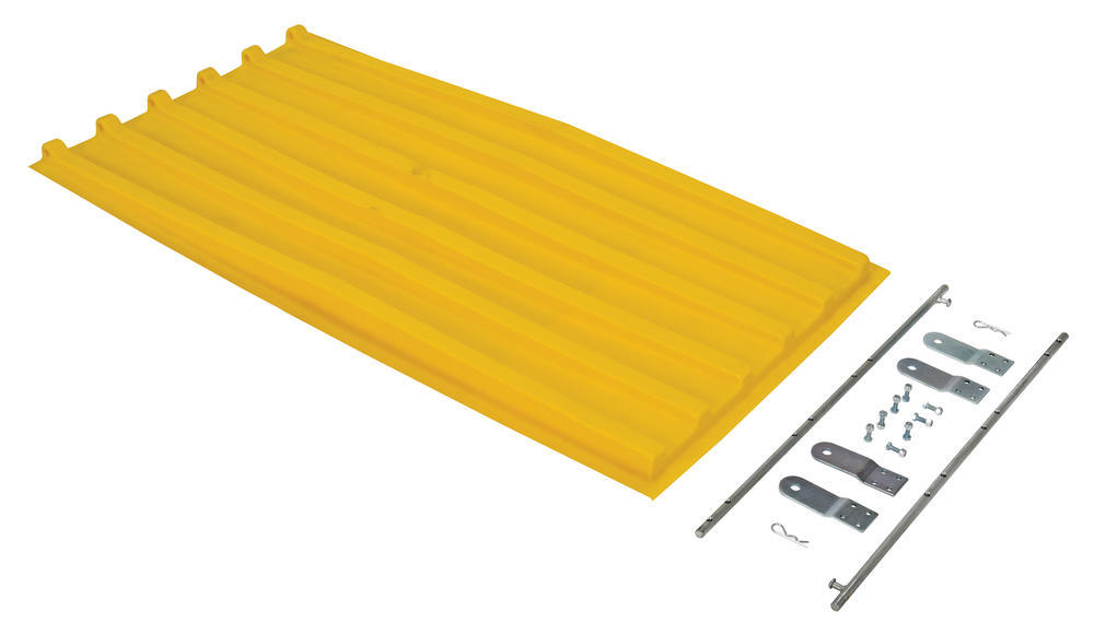Yellow Poly Lid Size 0.75 Style D Hopper - 1
