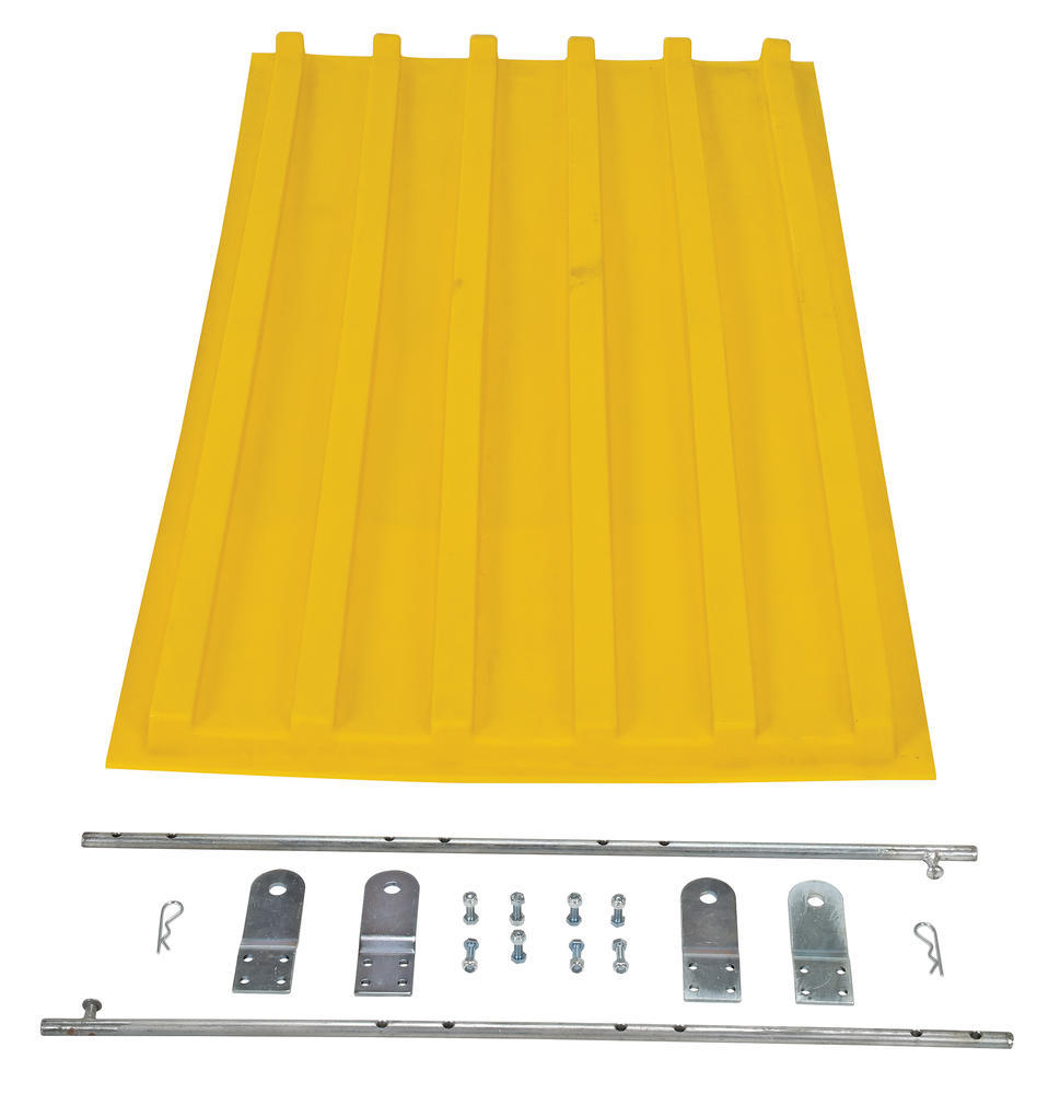 Yellow Poly Lid Size 0.75 Style D Hopper - 3