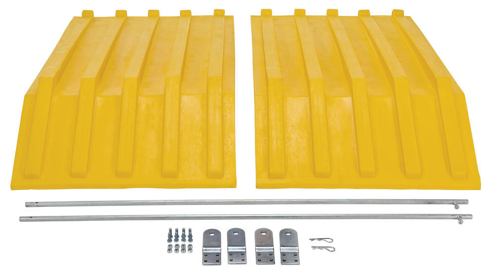 Yellow Poly Lid Size 1.5 Style H Hopper - 3