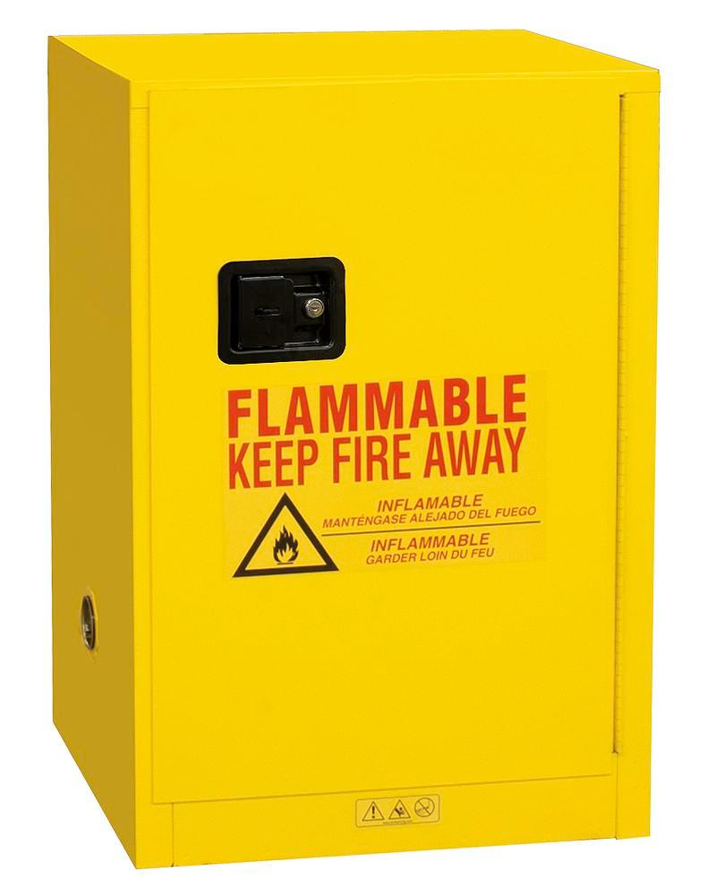 12 Gallon Flammable Safety Cabinet - FM Approved - Manual Closing