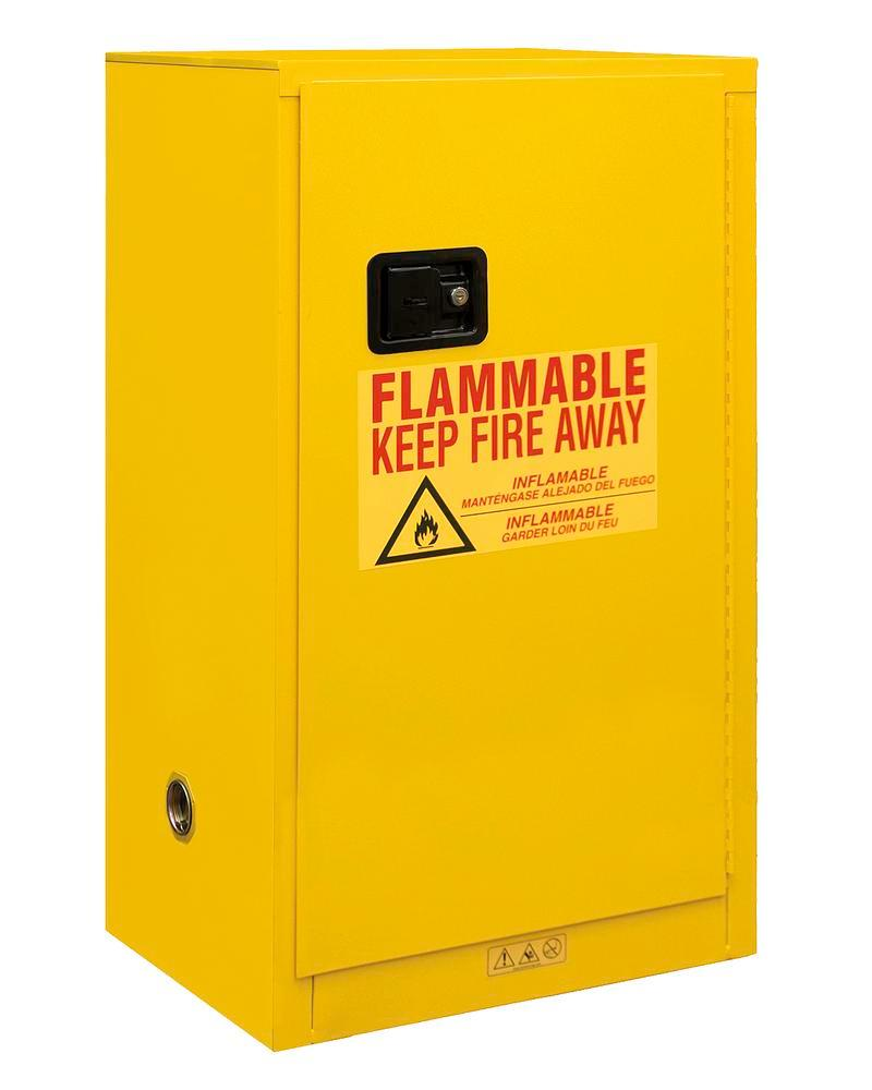 16 Gallon Flammable Safety Cabinet - FM Approved - Manual Closing