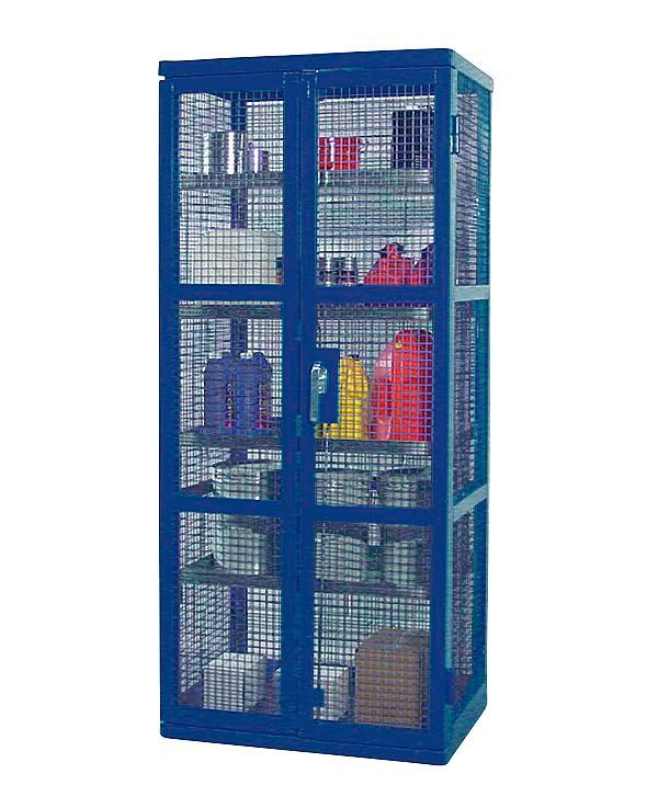 Caged Containment Shelving - Single