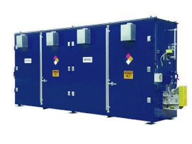 Chemical Storage Building - 32 Drum - 2 Hour Fire Rated - Sliding Door - 90 mph Wind Rating - 2 Tier-w280px