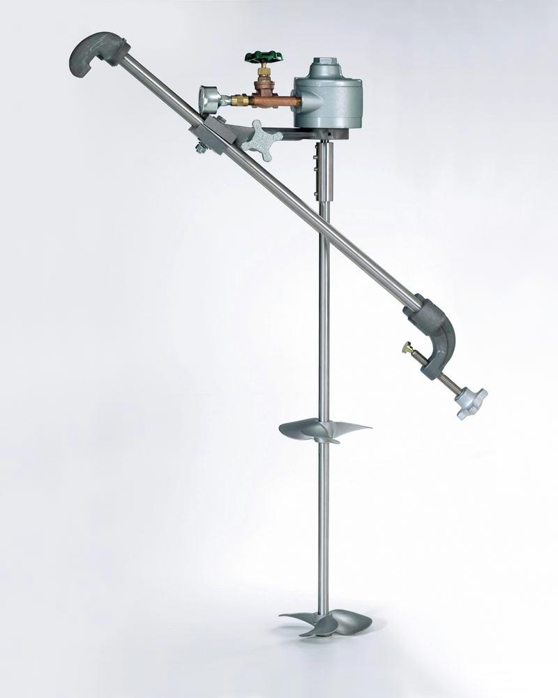 Drum Mixer - Straddle Mount - Electric - Dual Propeller - Stainless Steel Blades - 1725 rpm motor