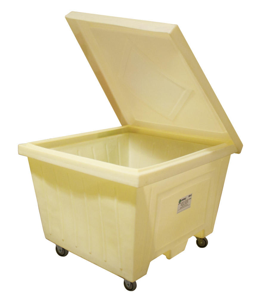 Extra Large Tote w/Lid and 4 in. Wheels