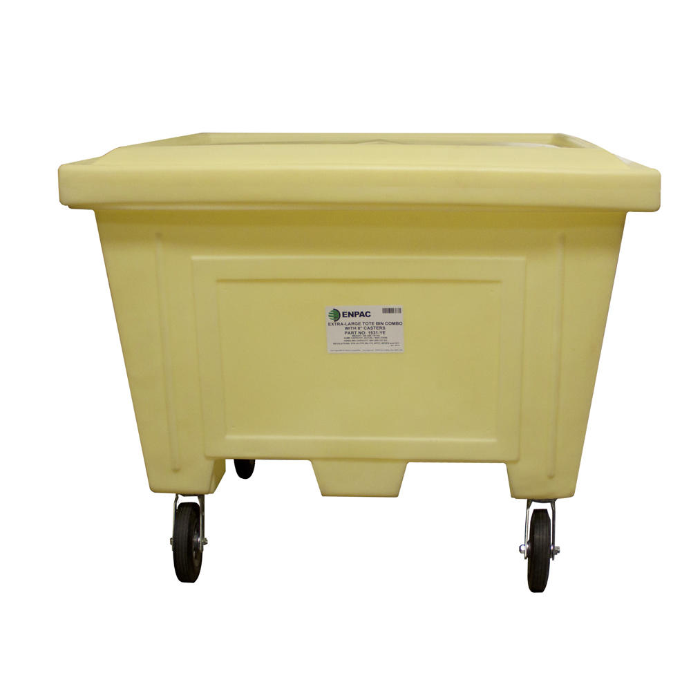 Extra Large Tote w/Lid and 8 in. Wheels - 1