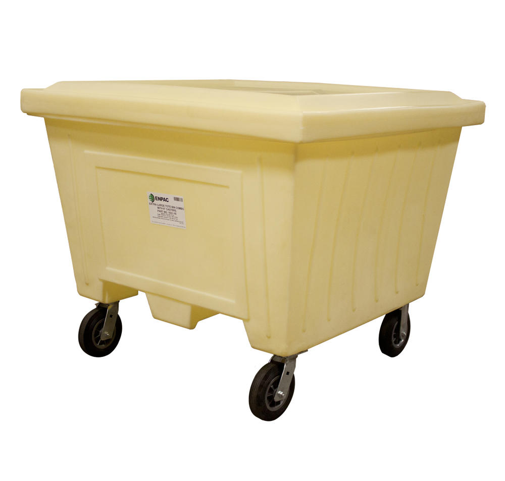 Extra Large Tote w/Lid and 8 in. Wheels - 2