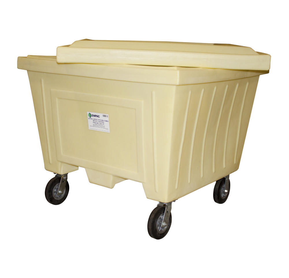 Extra Large Tote w/Lid and 8 in. Wheels - 3