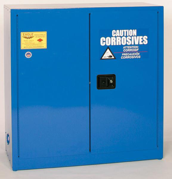 Flammable Acid & Corrosive Cabinet - 30 Gallon - Sliding Doors