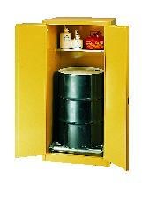 Flammable Safety Cabinet - 1 Drum - Manual, Vertical
