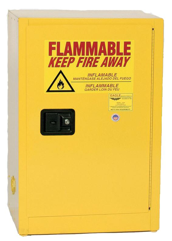 Flammable Safety Cabinet - 12 Gallon - Manual Doors
