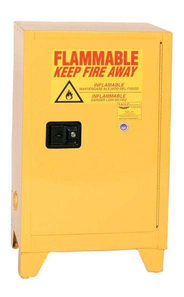 Flammable Safety Cabinet with Legs - 16 Gallon - Manual Doors