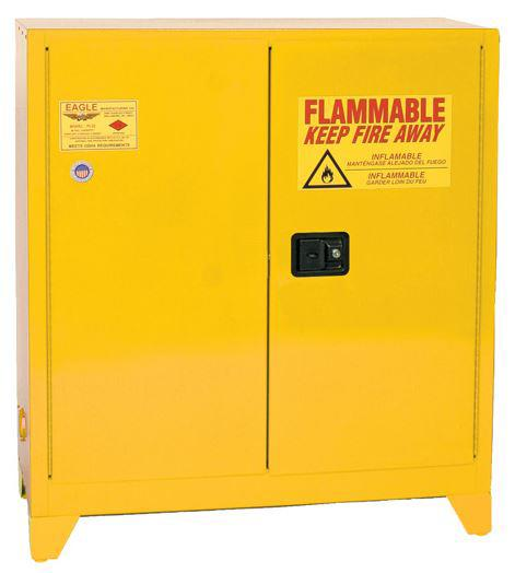 Flammable Safety Cabinet with Legs - 30 Gallon - Self-Closing, Vertical