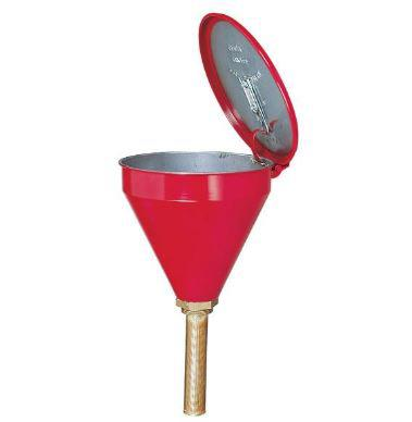 "Flammable Waste Liquid Drum Funnel - Funnel w/o Check Valve - 6"" Perforated Metal"
