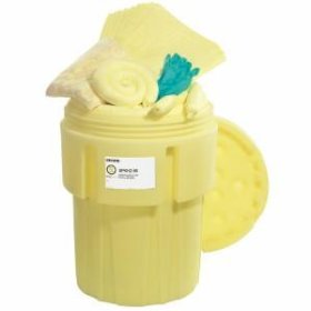Hazmt Overpack Spill Kit - 65 Gallon Transportable Drum - DOT Approved - Built in Wheels-w280px