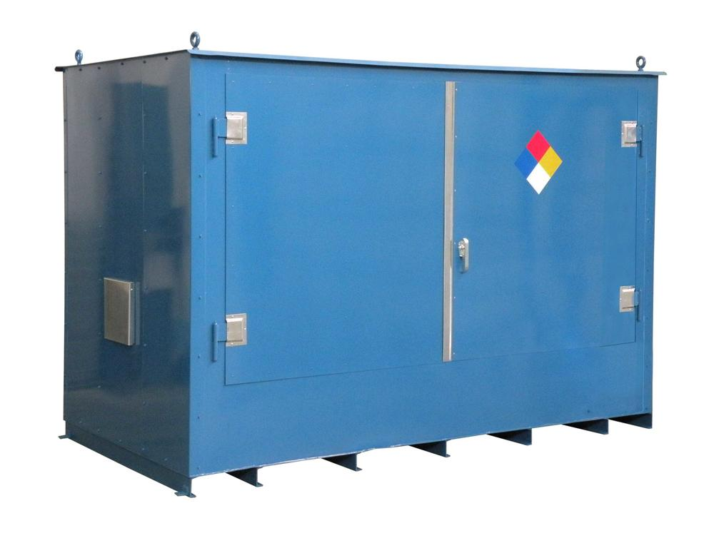 IBC - 2 Hour Fire Rated - 90 mph Wind Rating - 2 IBC Locker - Hinged Doors