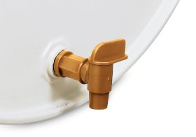 "Polyethylene Drum Faucet - 3/4"" NPT bungs - Drains Quickly - For Acidic and Corrosive Liquids-w280px"