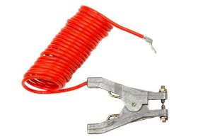 Retracting Grounding & Bonding Cable Coil - 10-foot Length - FM Approved Hand Clamps-w280px