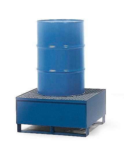 Spill Pallet - Painted Steel 1 Drum - With Grating