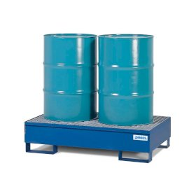 Spill Pallet - Painted Steel 2 Drum - With Grating-w280px