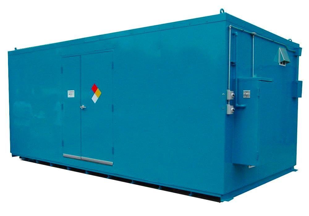 10' Chemical Storage Building - FM Approved - 36 Drum Capacity - Hinged Doors - Indoor or Outdoor - 1