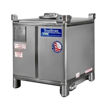350 Gallon IBC Tote - Stainless Steel - 1