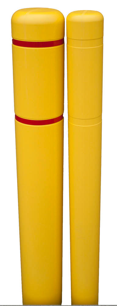 7 in. x 72 in. - Bollard Cover, w/ Red Reflective Tape - 1