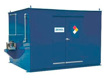 8' Chemical Storage Building - FM Approved - 21 Drum Capacity - Hinged Doors - Indoor or Outdoor