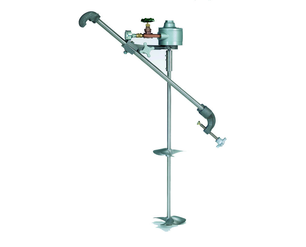 Air Powered Straddle Mount Mixer - 1