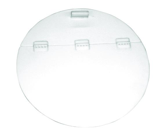 Flat Bottom Cylindrical Poly Storage Tank with Hinged Lid - 100 Gal.