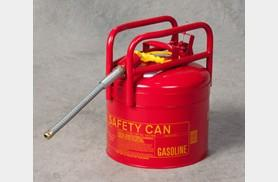 FM Approved - DOT Type II Transport Cans - 5 Gallon - 7/8 Hose