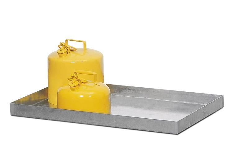 Galvanized Steel Spill Tray - 24x18x6