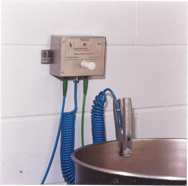 Grounding Clamp - LED Wall-Mounted Monitors 16 ft cable 3-pt. clamp