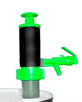 Hand Pump for Drums & Pails - Green Viton - Up to 4.5 gal/min for Water - 2 gal/min for SAE 30 Oil-w280px