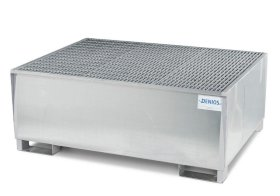 IBC Spill Containment Pallet - 1, 350-Gallon IBC Tote Capacity - Galvanized Steel - 53 x 72-w280px