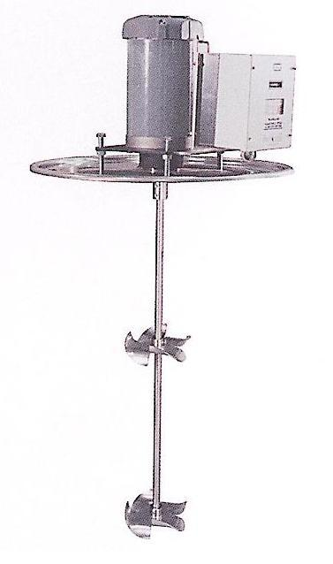 """IBC Tote Mixer - Electric - 250 Gallon Steel IBC - 6"""" Stainless Steel Impellers - 5/8"""" diameter"""