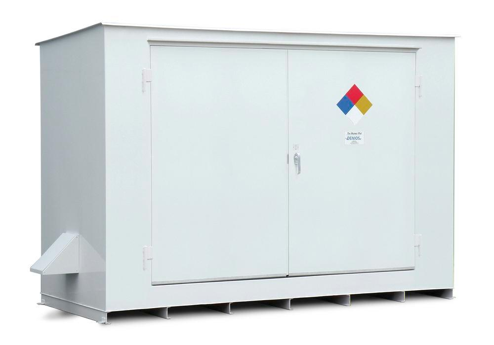 N Series - 4 Hour Fire Rated - 150 mph Wind Rating - 10 Drum Locker