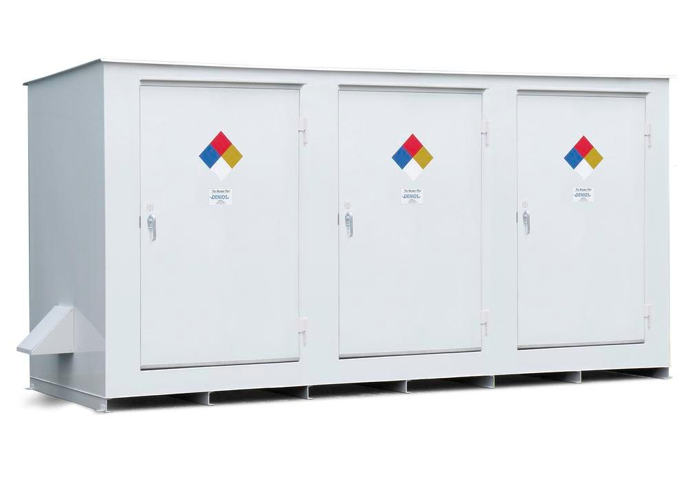 N Series - Non-Combustible - 150 mph Wind Rating - 14 Drum Locker