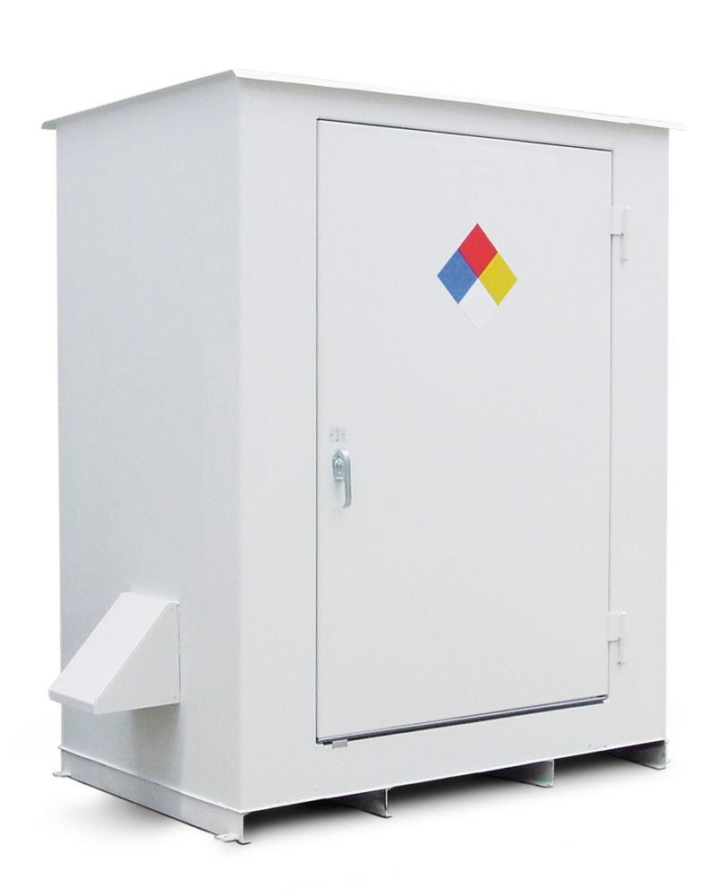 N Series - Non-Combustible - 150 mph Wind Rating - 6 Drum Locker
