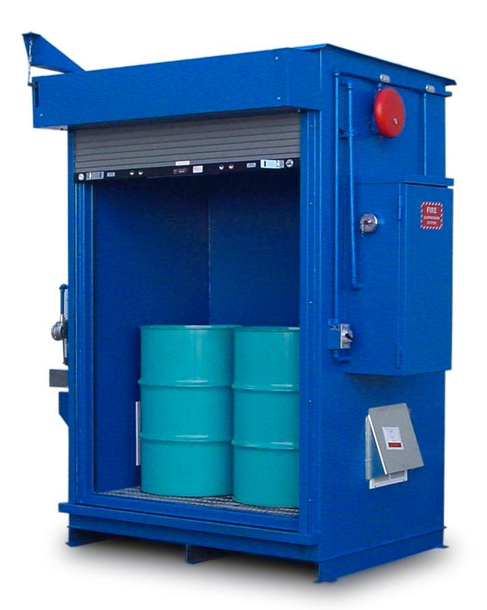 Specialty - 2 Hour Fire Rated - 6 Drum Locker
