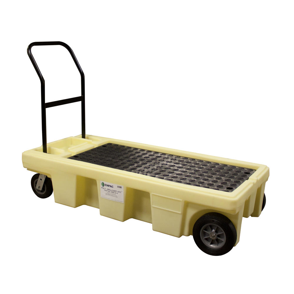 Spill Cart ATC - Poly 2 Drum - Rubber Wheels