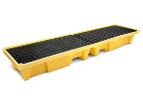 Spill Containment Pallet - 4 Drum Inline - Poly Construction - 5102-YE-w280px
