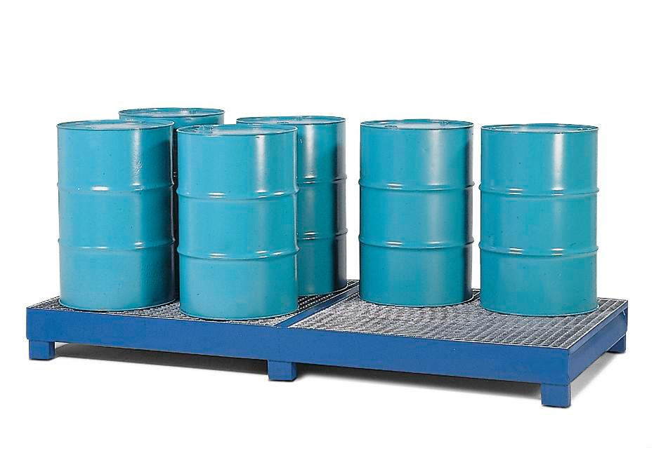 Spill Pallet - Painted Steel 8 Drum - No Grating